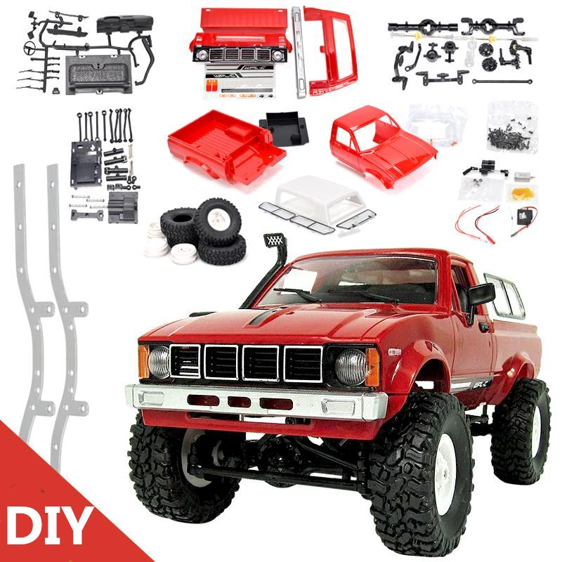 WPL C-24 KIT Jeep 1:16 Model Car 4WD RC CAR Remote Control Toy 2.4G OFF-Road High Speed Truck KIT Car for Child DIY Car