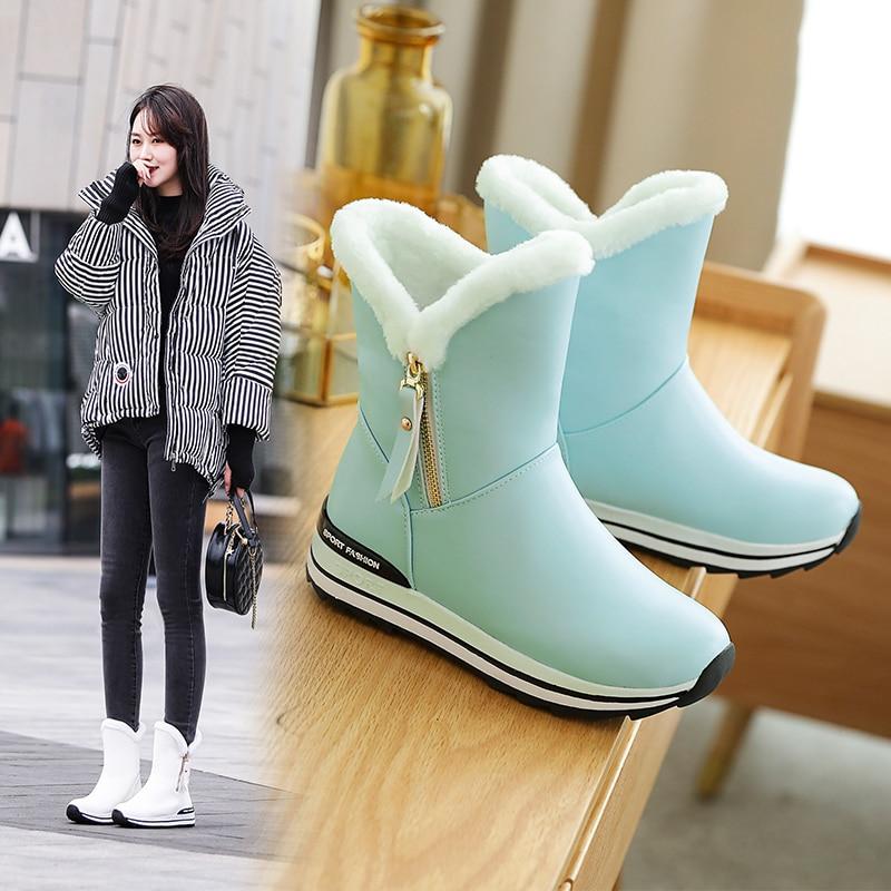 INS/женские ботильоны зимние ботинки на толстом каблуке 22 26 см ботильоны для женщин зимние ботинки женская теплая Уличная обувь ботильоны для женщин|Зимние сапоги|   | АлиЭкспресс