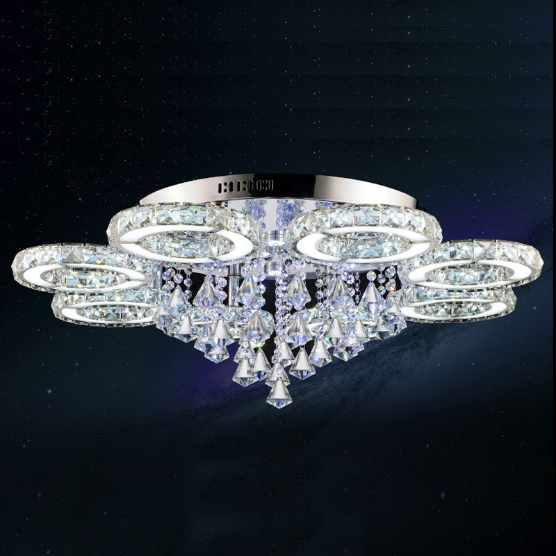 Modern Crystal Ceiling Lights Lampen Kristal Rings Design For Living Bedroom Room Light Luminaire Deckenleuchten Plafond Lamps