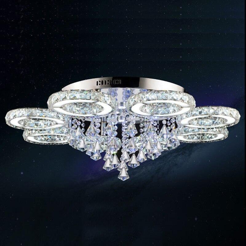 Moderne Kristall Deckenleuchten Lampen Kristal Ringe Design Fr Wohnzimmer Schlafzimmer Zimmer Licht Leuchte Plafond