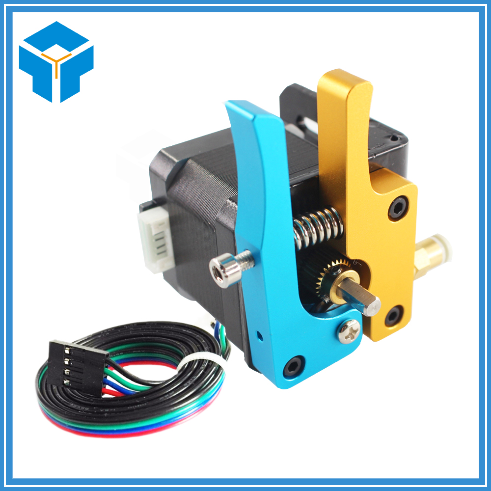 3D printer MK8 Upgrade Aluminium Extruder Blue-Gloden Mixing Color for Delta/Kossel/Reprap Mendel /I3 3D printer parts hot sale electric bike battery 36v 12ah 500w lithium ion e bike battery with pvc case bms 2a charger