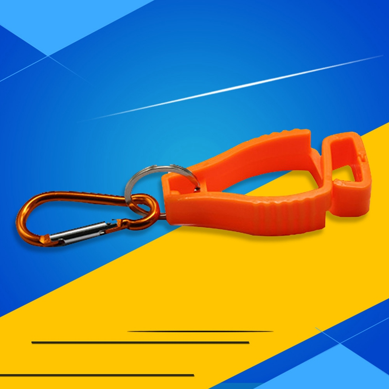 Image 3 - Plastic Glove Clip Red Working Gloves Clips Work Clamp Safety Work Gloves Guard Labor Supplies Random Color Delivery-in Safety Gloves from Security & Protection