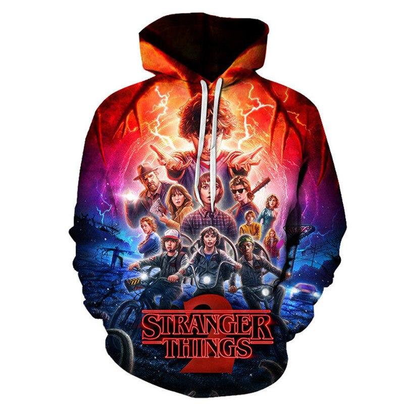 Fremden dinge Neue 3d hoodies Frauen/männer Pullover Sweatshirts coole kopf elf Druck weiblichen Mit Kapuze Trainingsanzüge Hoodie