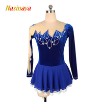 Nasinaya фигурное катание платье заказной конкурс Катание на коньках юбка для девочки Для женщин дети Patinaje гимнастика производительность 78