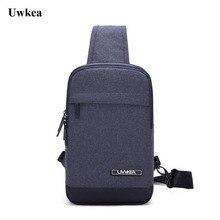 Uwkea új érkezés Hot-eladási mellkasi táska Férfi férfi Magic Pocket Fit 4.7 hüvelykes telefon Sling táska Férfi válltáska