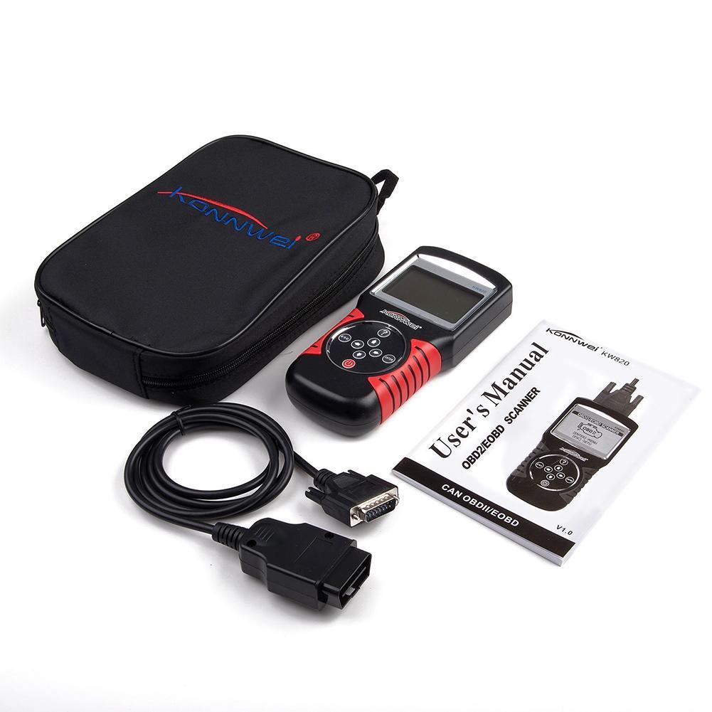 Цена за OBD2 сканер KW820 автомобиля диагностический код читателя тестер может Moteur средство сброса konnwei Авто сканер покрытие Портативный сканер A103