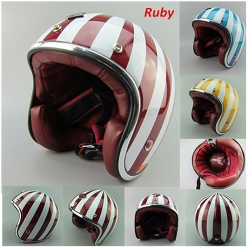 casque casco capacete france ruby helmet 3 4 open face vintage scooter glass fiber motorcycle. Black Bedroom Furniture Sets. Home Design Ideas