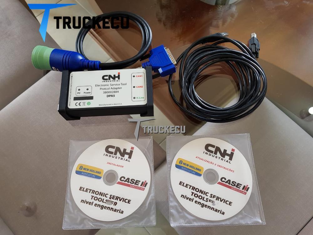 9.1 versão cnh est kit de diagnóstico nova holland & caso scanner diagnóstico dpa5 cnh ferramenta serviço eletrônico cnh est 380002884 caso