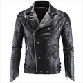 2016 Leather Jacket Men Turn-down Collar Jaqueta De Couro Masculina PU Mens Leather Jackets Skull Punk Veste Cuir Homme M-5XL