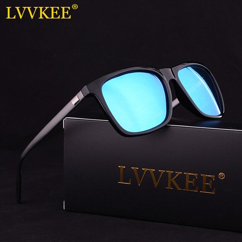 LVVKEE 2017 New Aluminum magnesium Legs Men's Sunglasses Classic Design Polarized Women Sun Glasses UV400 Night Vision Goggles
