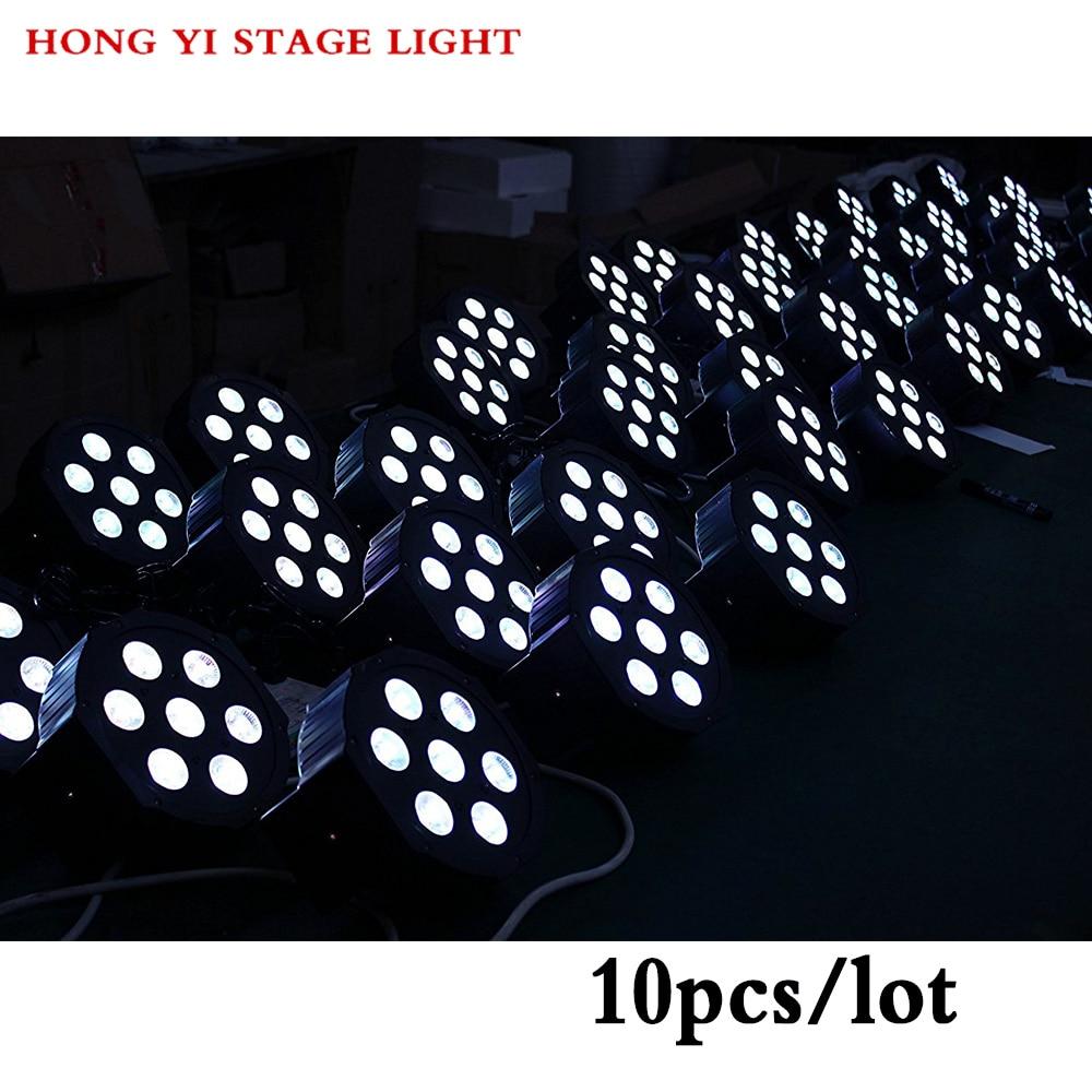 10pcs/Lot Flat LED par 7x12W / RGBW par Light mini DJ Stage Lights Disco