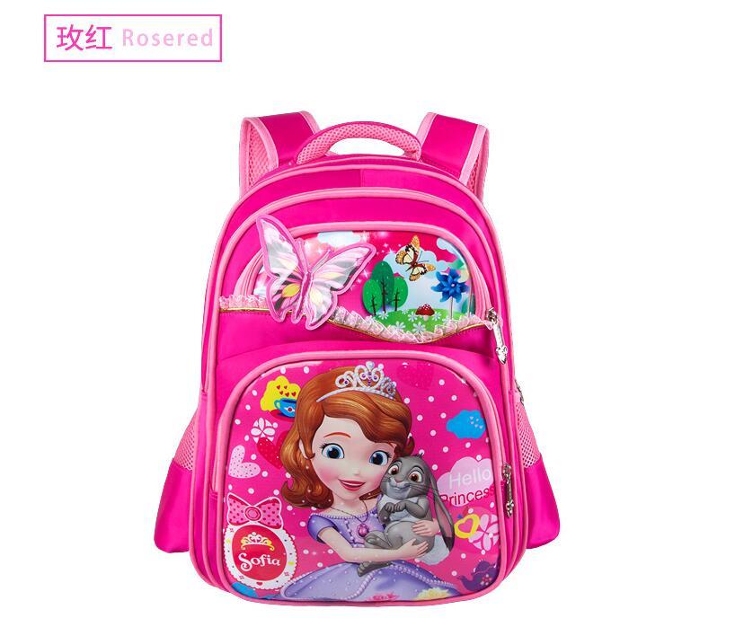 New Orthopedic Breathable Sofia Schoolbag Children Cartoon School Bags For Girls  School Backpacks Mochila Infantil cfa9d7384d6df