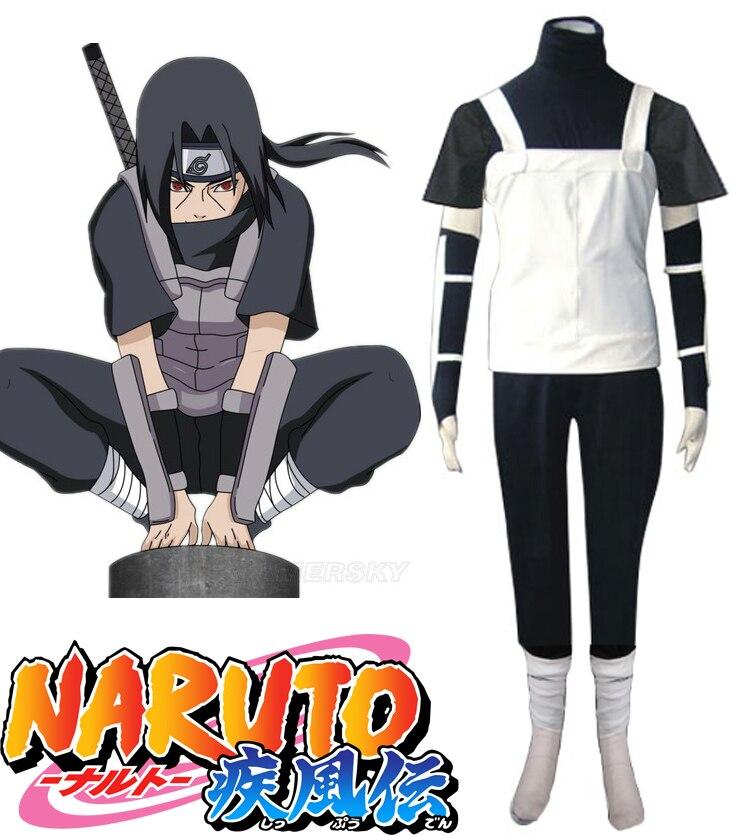 Envío gratis Naruto Shippuden Uchiha Itachi Anbu Ninja Uniforme Anime Cosplay