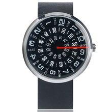 Wrist-Watch Modern Leather-Band Dial Quartz Sport Unique Casual Fashion Women Ladies