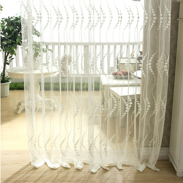 French Lace Kitchen Curtains Country Island Beige Sheer Tulle For Living Room Visillos De Cortina Borla Hook Eyelet Su006 20