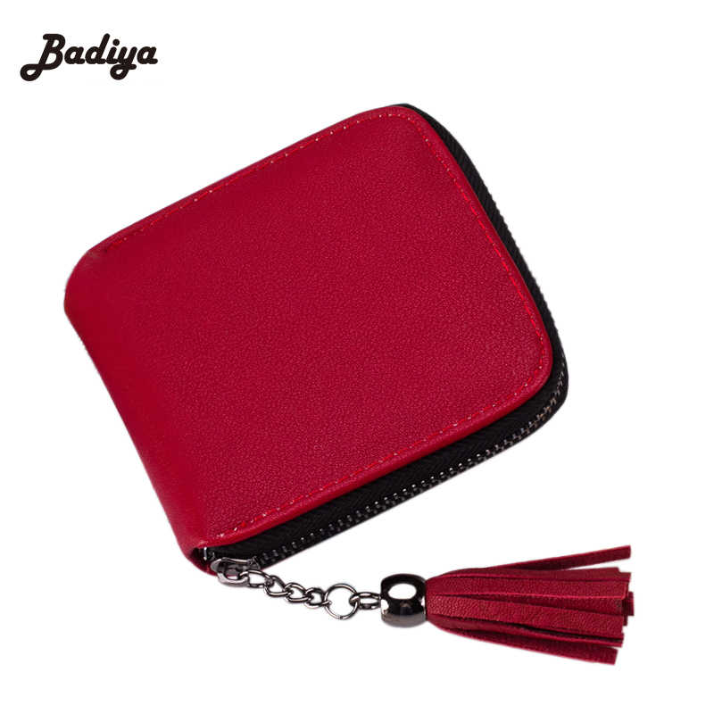 Small Design Slim Women Red Wallet Thin Zipper PU Leather Ladies Coin Purses Female Purse Mini Clutch Cheap Womens Wallets