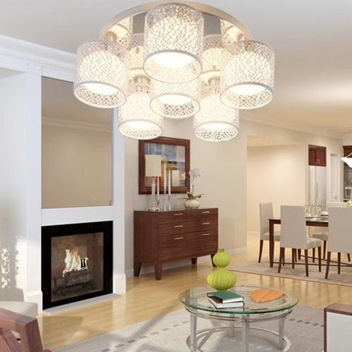 Фото NEW LED crystal ceiling lamp living room lamp round bedroom lighting dining room dining room three lamp ZA10