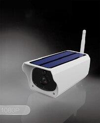 Wodoodporna bezpieczeństwa na zewnątrz niskie zużycie energii słonecznej kamery IP kamery WIFI telefon komórkowy pilot zdalnego sterowania 1080 P HD nadzoru w Kamery nadzoru od Bezpieczeństwo i ochrona na