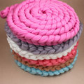 Newborn Baby Braid Wool Spinning Fiber Rugs Photography Photo Props String Blanket  450CM