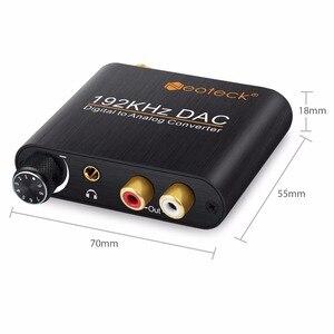 Image 5 - Neoteck cyfrowy na analogowy konwerter Audio DAC koncentryczny optyczne Toslink SPDIF do analogowe RCA 3.5mm Adapter gniazda Jack z kontrolą głośności