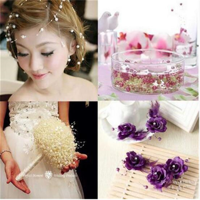 5 Meters Clear Fishing Line Artificial Pearls Beads Chain Garland Flowers Wedding Party Decoration Products Supply 4