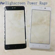 Золото/Черный/Белый Сенсорный Экран Сенсорный Экран Digitizer Для Highscreen Мощность Ярость Мобильный Телефон Сенсорная Панель Стекло/только стекло
