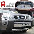 Chrome & Black Frente Skid Placa Bumper Guard Protector para Nissan X-Trail T31 2008 2010 2011