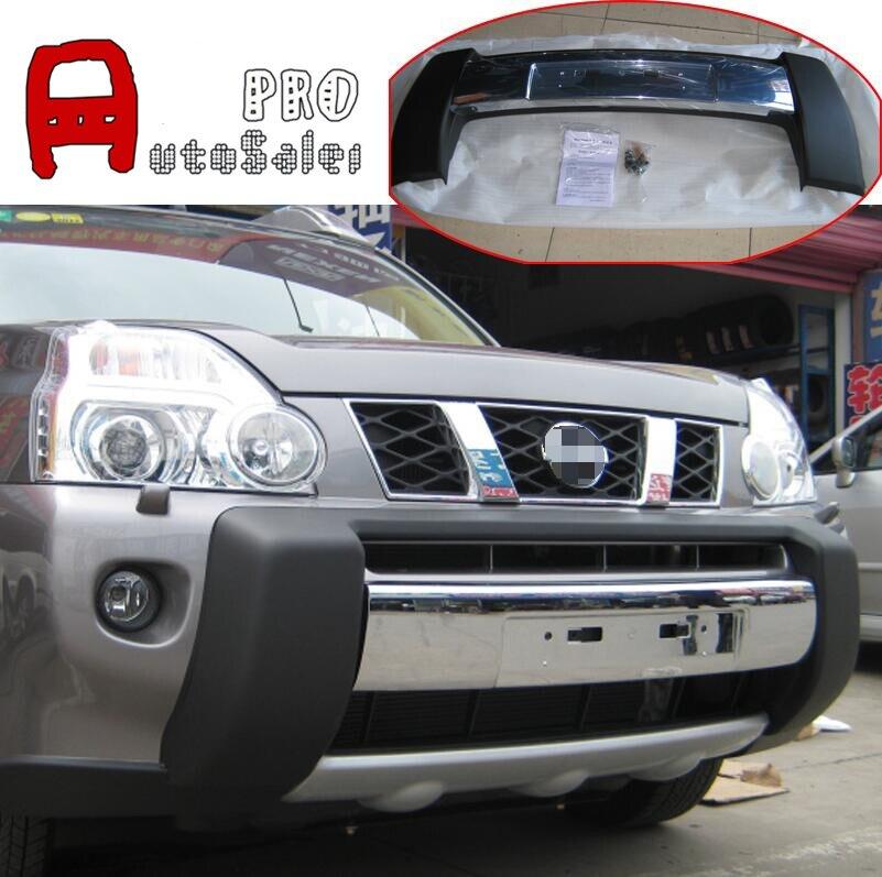 Chrome et Noir Pare-chocs Avant Protecteur Plaque de protection pour Nissan X-trail T31 2008 2010 2011