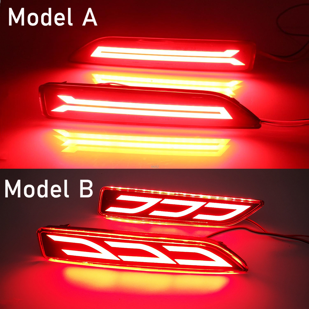 Rear Driver /& Passenger Side Bumper Reflector Light Lamps For 12-13 Honda CR-V