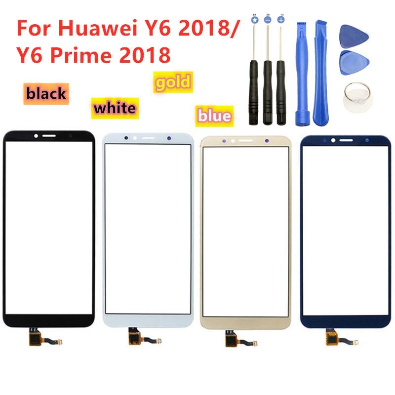Высококачественный сенсорный экран для Huawei Y6 2018 / Y6 Prime 2018, сенсорная панель, дигитайзер, датчик, переднее стекло, Замена объектива