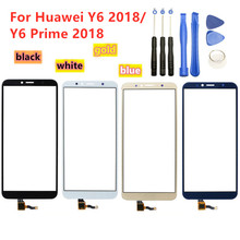 Pantalla táctil de alta calidad para Huawei Y6 2018 / Y6 Prime 2018, Panel de pantalla táctil, Sensor de digitalizador, reemplazo de lente de cristal frontal