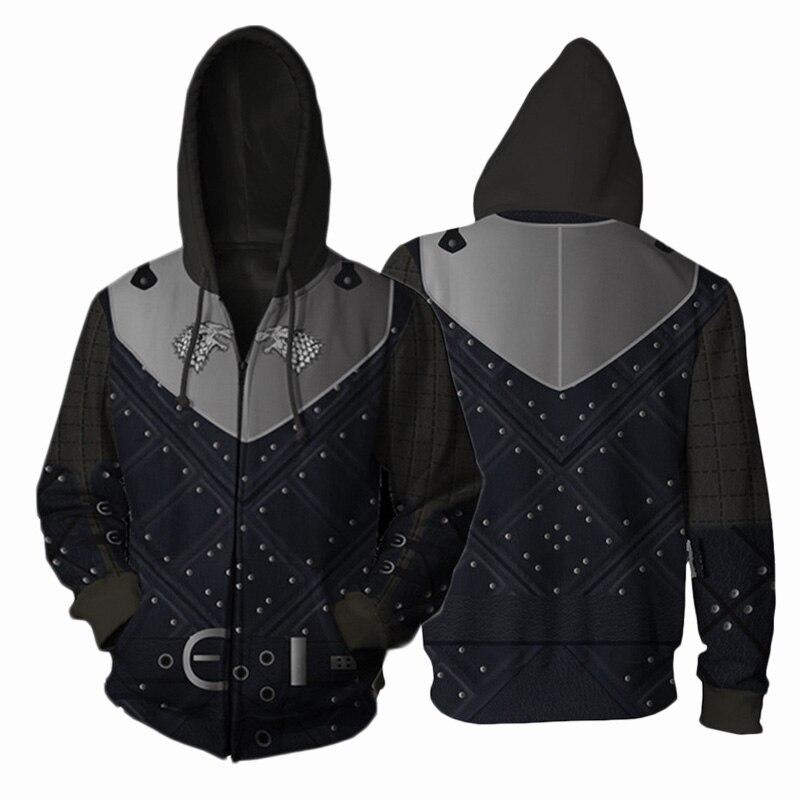 Game of Thrones 3D Digital Printed Hoodie Sweatshirt Unisex Hooded Zipper Black Jacket Men Women Streatwear Pullover Coat S-5XL