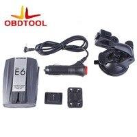 XOBD E6 Car Speed Laser GPS 360 Voice Alert Electronic Dog Radar Detector Car Electronics 1Pcs