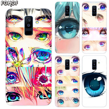 Charming Beautiful Eyes Print Soft TPU Back Case For Samsung Galaxy A6 A8 Plus A5 A7 A9 Star 2018 A3 2017 A6S A8S Cover