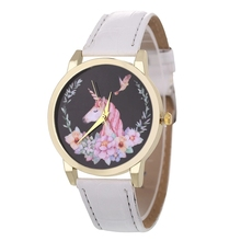 Unicorn and Flower Patterned Watch