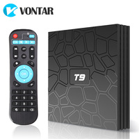 5pcs T9 Smart TV Box Android 8.1 RK3328 Quad Core 4GB 64GB 1080p 4K 2.4G/5G Dual WiF BT4.0 Google Play Store set top box sunvell