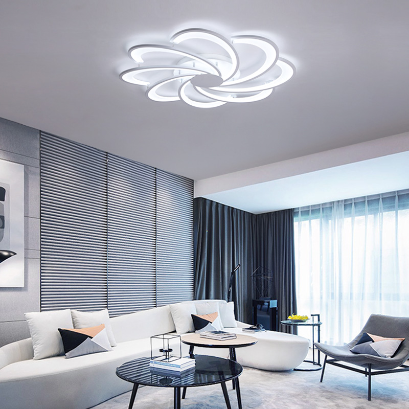 Modern acrylic LED ceiling light Overlapping frames large luxury ceiling lamp for living dining bed room luster avize