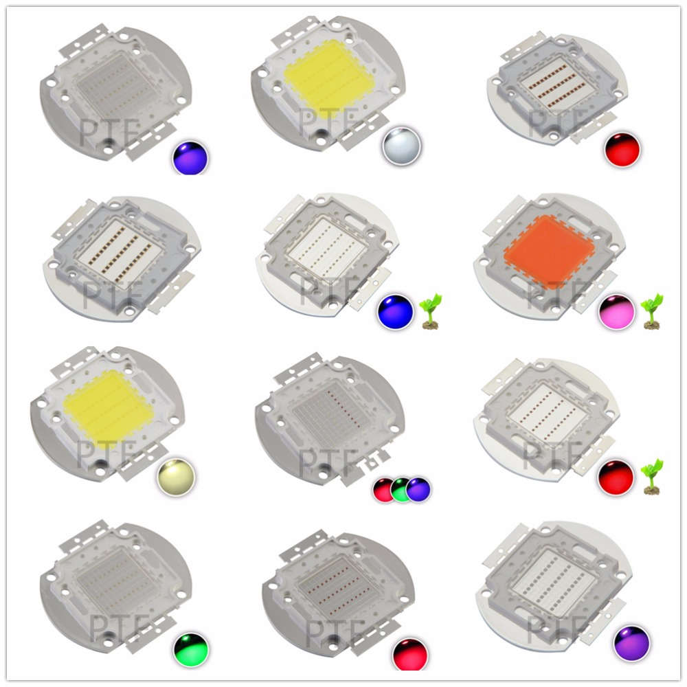 High Power LED Chip COB 30W 30 W Natural Cool Warm White Red Blue Green UV RGB IR Full Spectrum Grow Light for Floodlight
