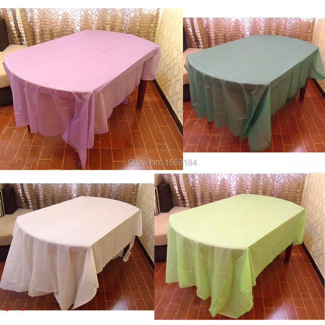 Free Shipping 20pcs Waterproof Oilproof Table Cloth Plastic Tablecloth  Table Cover Colorful Picnic Party Tablecloth