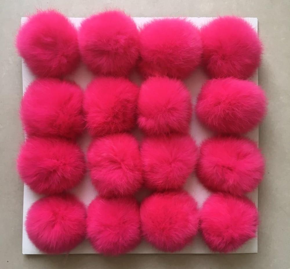 6CM~9CM Big Natural Fur PomPom DIY KeyChain Rabbit Hair Bulb Bag pom pom Ball key chain For Women Car Bag Key Ring Keychain