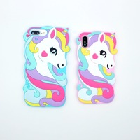 Soft Cute Cartoon Unicorn Case For iPhone X 6 6s 6Plus Case Silicone Cover Fundas Coque Capa For iPhone 7 8 Plus
