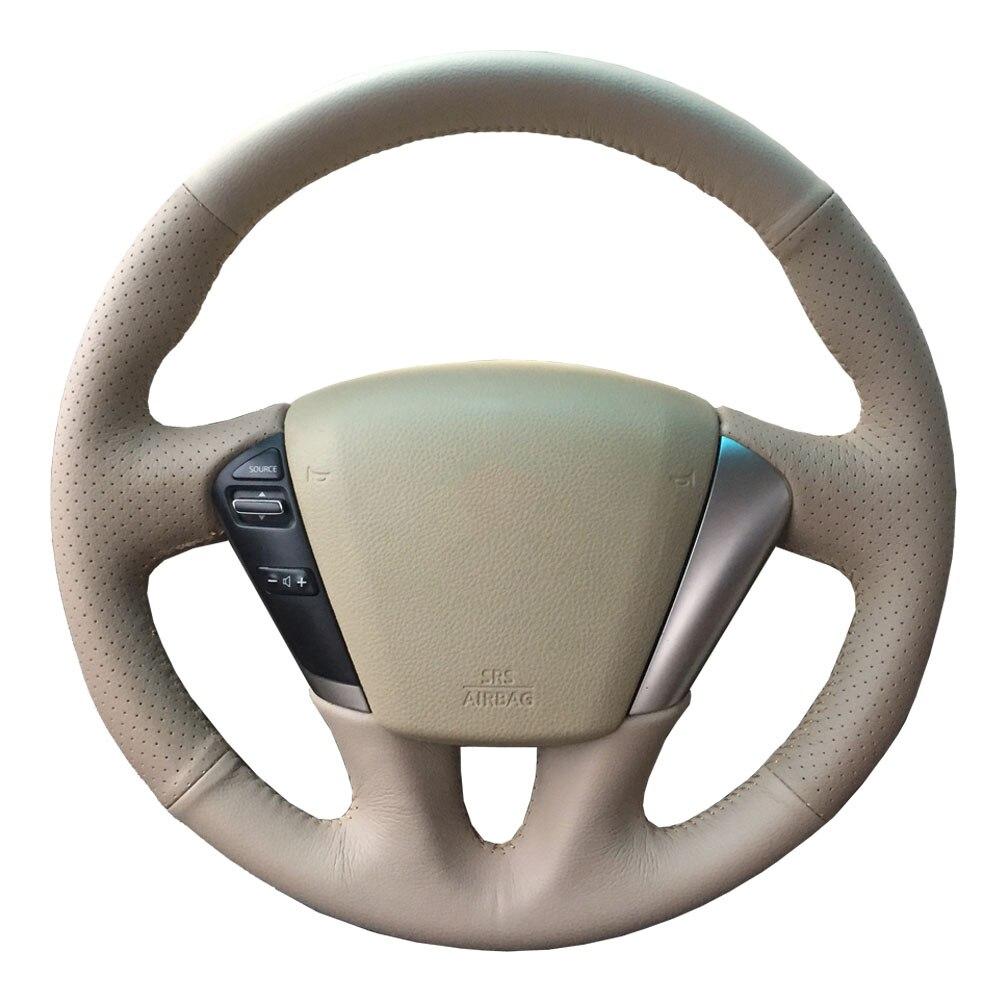 Steering wheel cover for Nissan Teana 2008-2012 Murano 2009-2014/Custom made Steering wheel cover