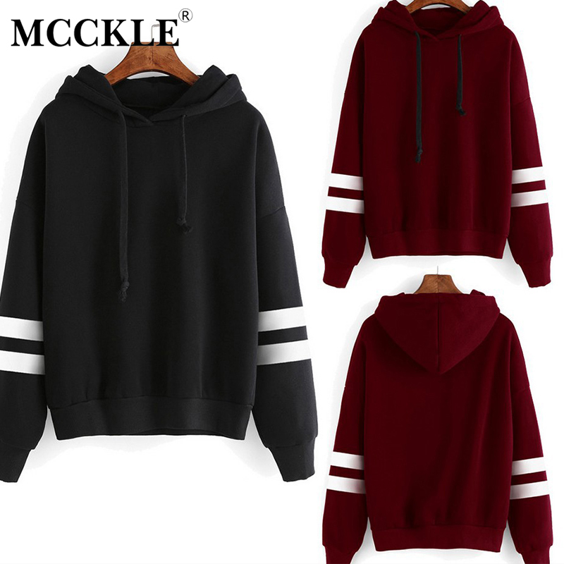 Autumn Striped Hooded Women's Sweatshirt Long Sleeve Hoodies Plus Size 5XL Black White Womens Hoody Pullover 2019 Sweatshirts