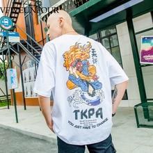 VFIVEUNFOUR Men's Loose T-Shirts 2019 Funny Printed Short Sleeve Tshirts Summer Hip Hop Oversize Cotton Tops Tees Fashion best es 414 2m 900 ix