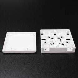 10 шт. FTTH Клеммная коробка 86-Тип Распределительная коробка ПВХ настенное крепление для рабочего стола терминал Панель волоконно-оптическая ...