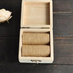 Image 4 - خاتم الزواج صندوق ، شخصية أسماء صندوق خشبي ، هدية للأزواج خواتم ، ريفي خاتم صندوق مع إكليل ، حلقة حامل صندوق