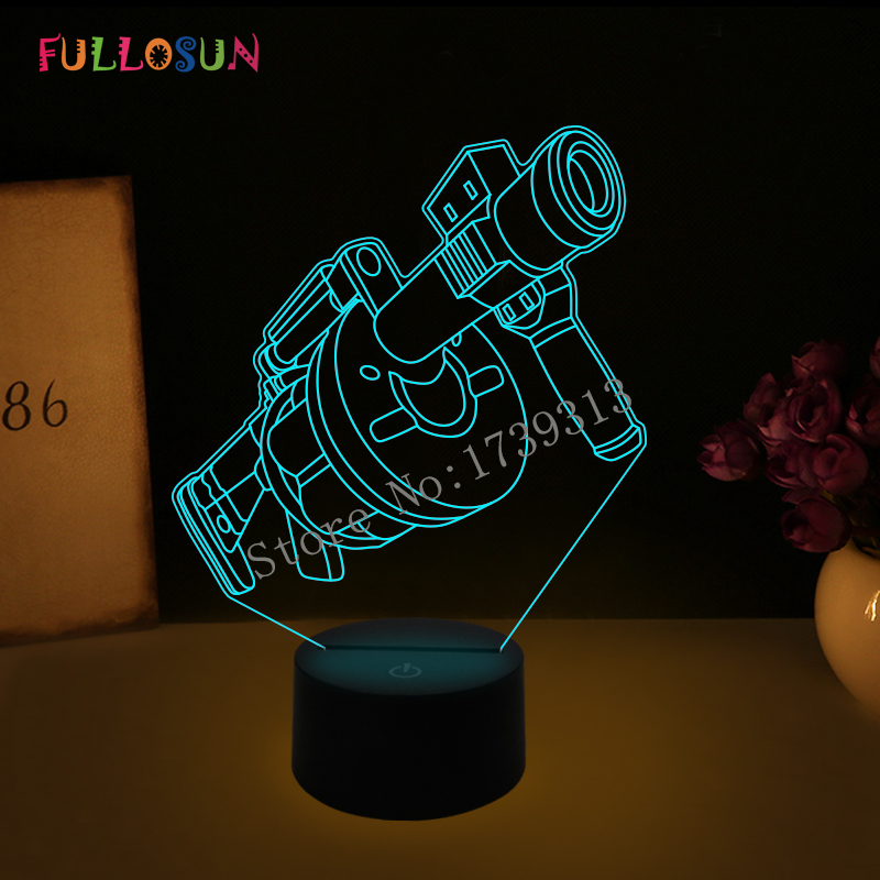 Game Character 3D Lamp 7 Color LED Lamp Kids Night Light USB Lampara Lamp Baby Sleep Lights