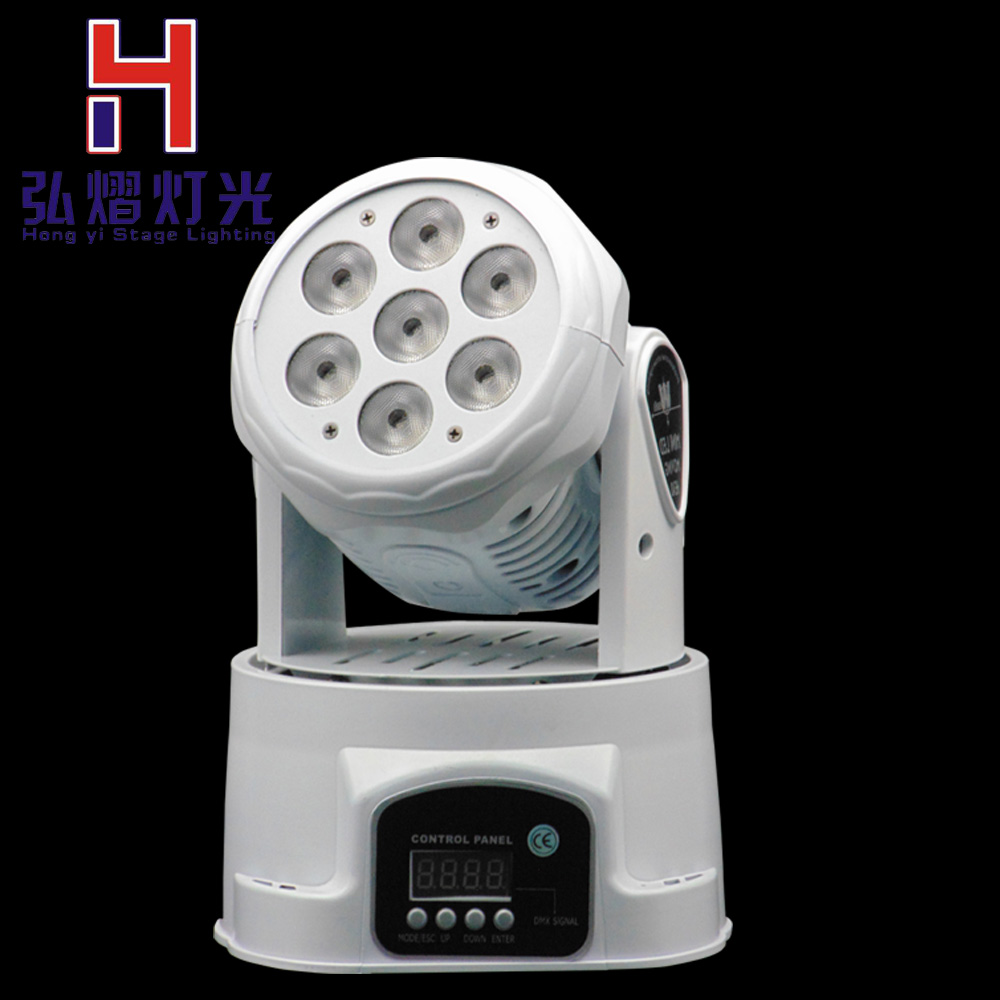 LED Moving Head Mini wash 7x12w RGBW Quad with advanced 14 channels LED effect stage light Factory PriceLED Moving Head Mini wash 7x12w RGBW Quad with advanced 14 channels LED effect stage light Factory Price