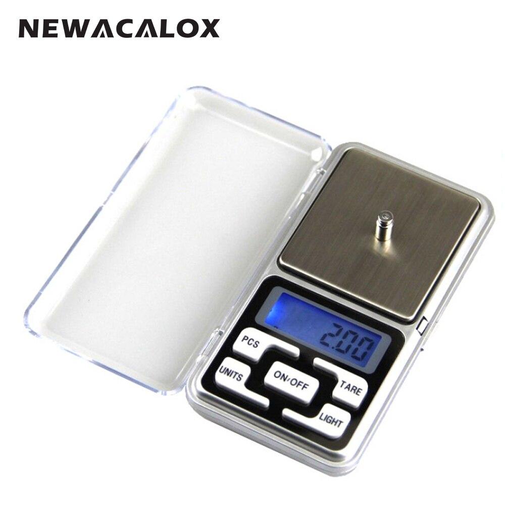 NEWACALOX 500g x 0.01g Mini Digitale di Precisione Bilancia per Oro Scala Gioielli In Argento Sterling 0.01 Display Tasca Elettronico bilance