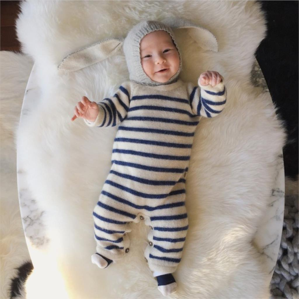 67965b6ecb1 Baby Rabbit Ears Knitted Hat Infant Toddler Winter Cap For Children 0-2  Years Girl Boy Accessories Photography Props   BestDealPlus